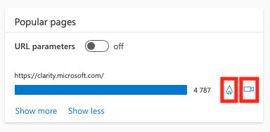 Как в Microsoft Clarity посмотреть тепловые карты и записи сеансов для отдельных страниц или групп пользователей